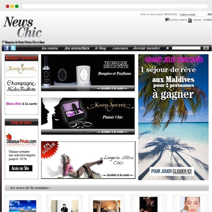 New chic website creation