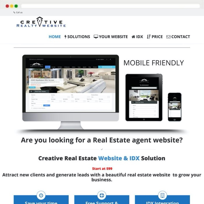 Website creation Creative Realty