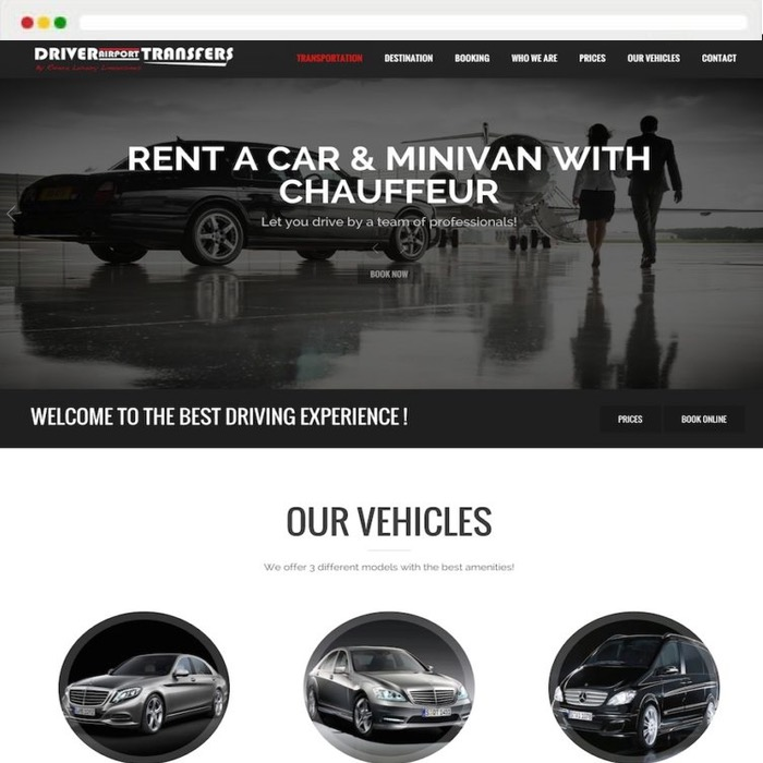 Website creation Driver Airports Transfers
