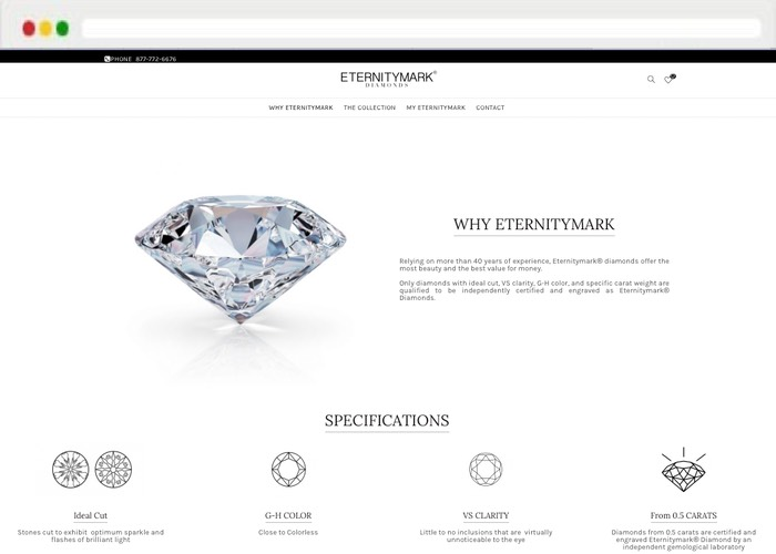 Website creation Feature Eternitymark