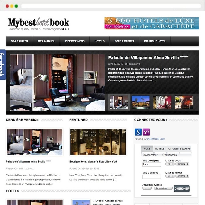 Website creation My Best Hotel Book
