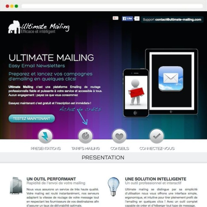 Website creation ULTIMATEMAILING